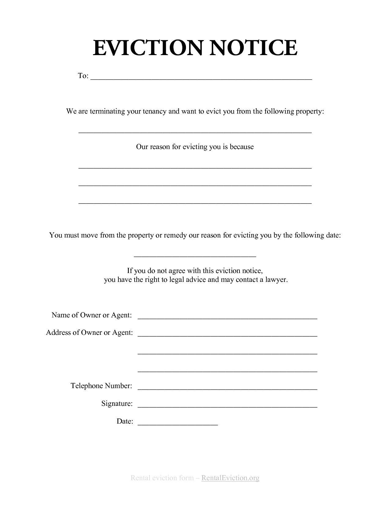 007 Wondrou 30 Day Eviction Notice Template Picture  Pdf FormFull