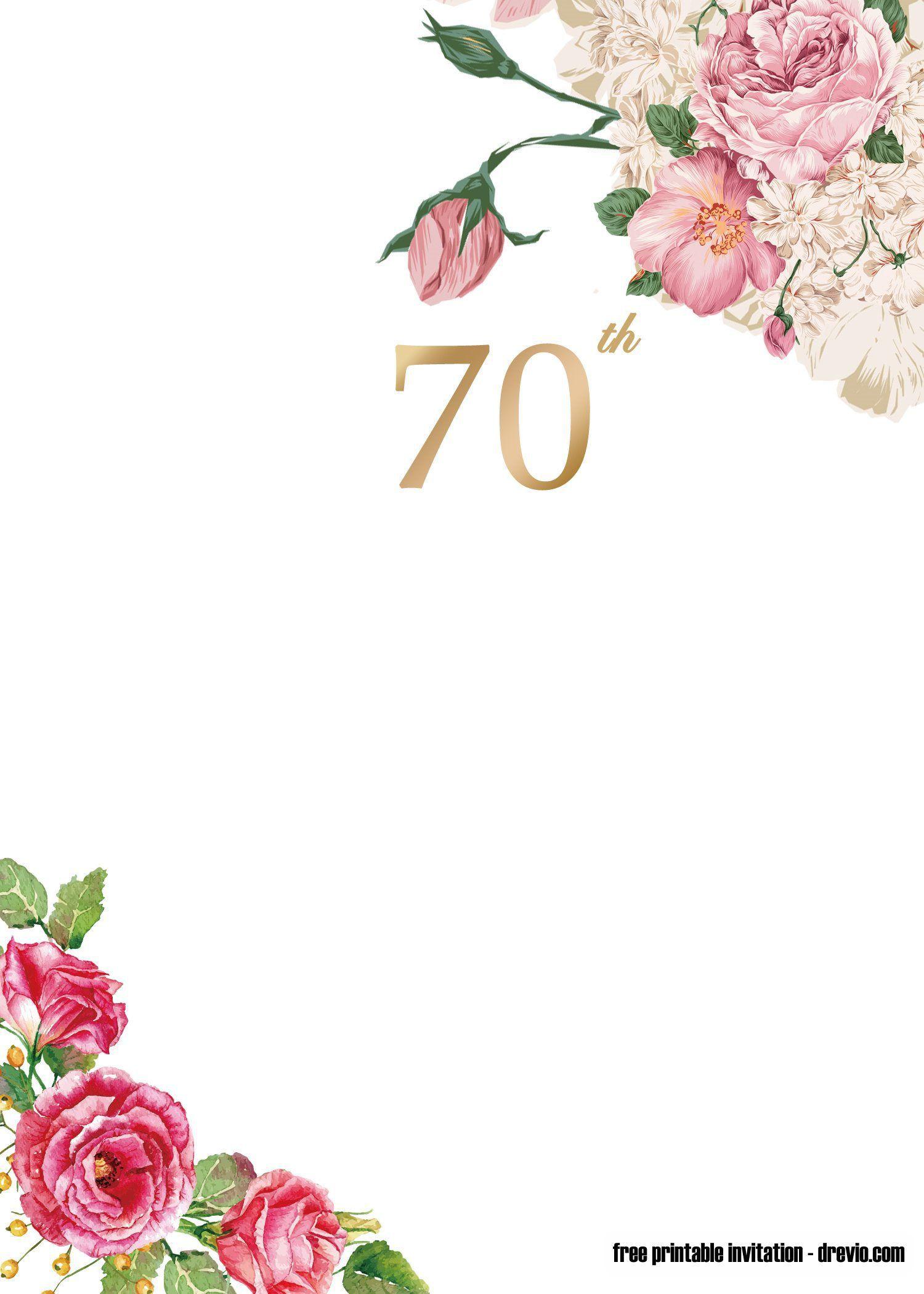 007 Wondrou 70th Birthday Invitation Template Free Highest Clarity  Surprise Invite With PhotoFull