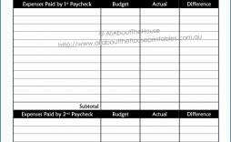 007 Wondrou Bi Weekly Budget Template 2 Concept  2020 Biweekly 2019