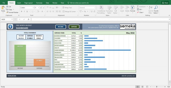 007 Wondrou Excel Monthly Budget Template Idea  South Africa728