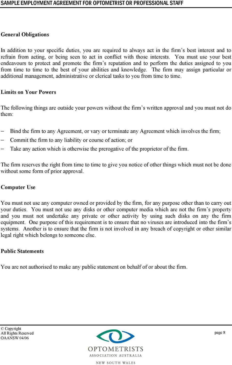 007 Wondrou Free Casual Employment Contract Template Australia Sample Full