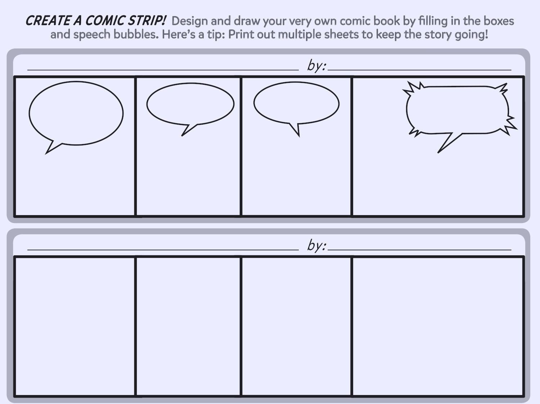 007 Wondrou Free Comic Strip Template Word High Def Full