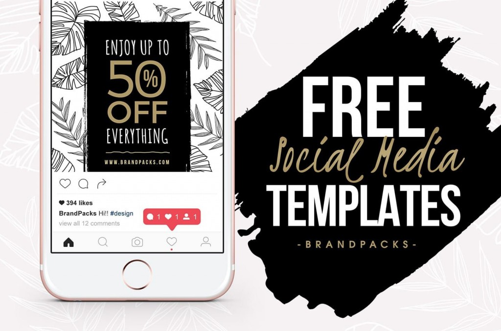 007 Wondrou Free Social Media Template Picture  Templates Website Design Post Download For PowerpointLarge