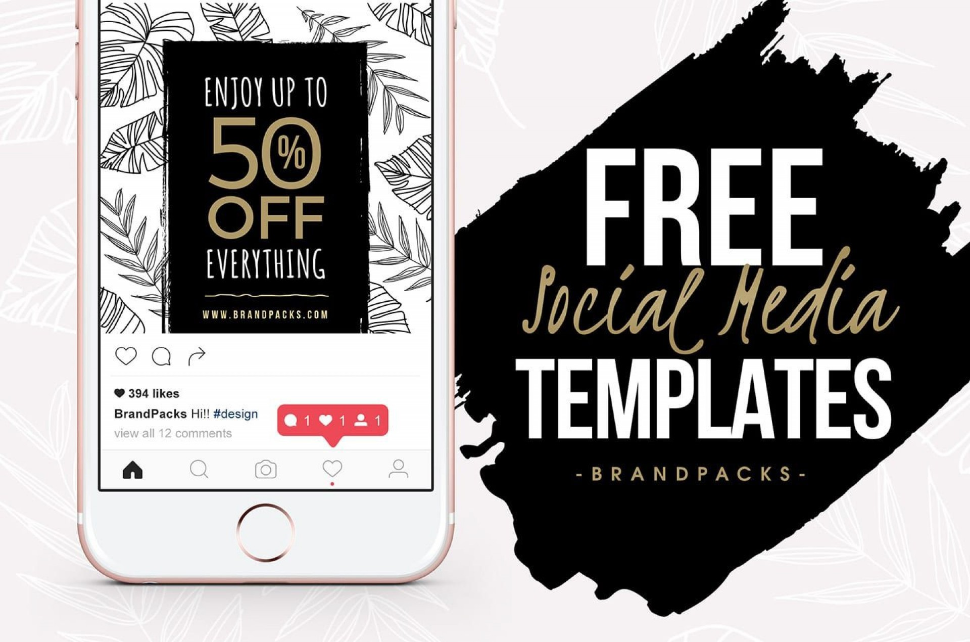 007 Wondrou Free Social Media Template Picture  Templates Website Design Post Download For Powerpoint1920