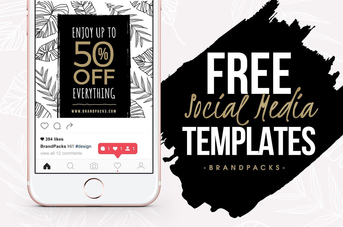 007 Wondrou Free Social Media Template Picture  Templates Website Design Post Download For PowerpointFull