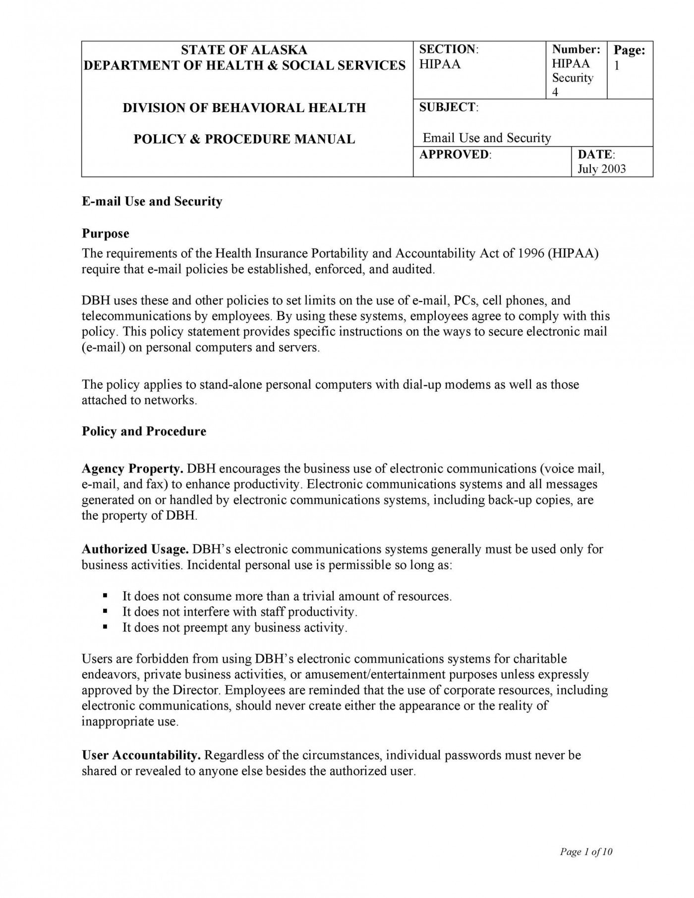 007 Wondrou It Security Policy Template Example  Download Free For Small Busines Pdf1400
