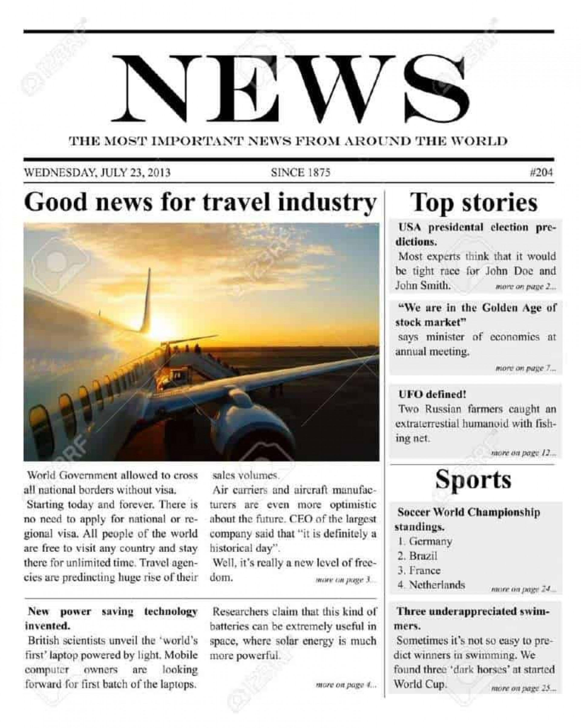 007 Wondrou Microsoft Word Newspaper Template Design  Vintage Old Fashioned1920
