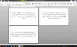 007 Wondrou Microsoft Word Note Card Format Photo