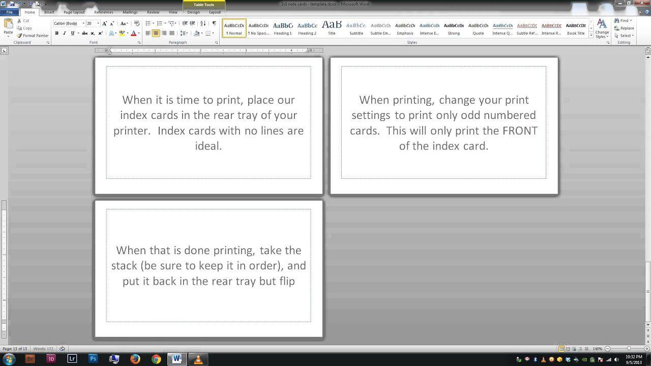 007 Wondrou Microsoft Word Note Card Format Photo Full