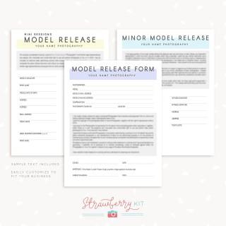 007 Wondrou Model Release Form Template Picture  Photographer Gdpr Simple320