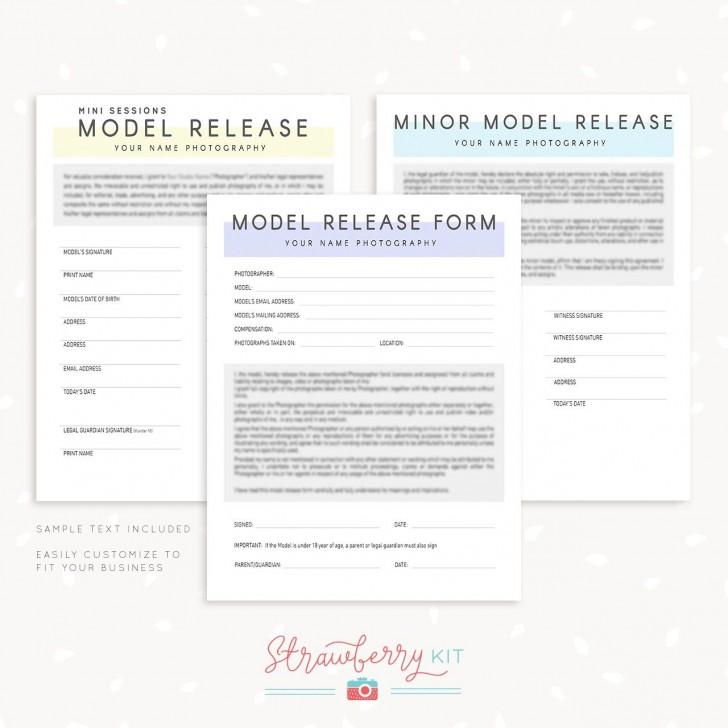 007 Wondrou Model Release Form Template Picture  Photographer Gdpr Simple728