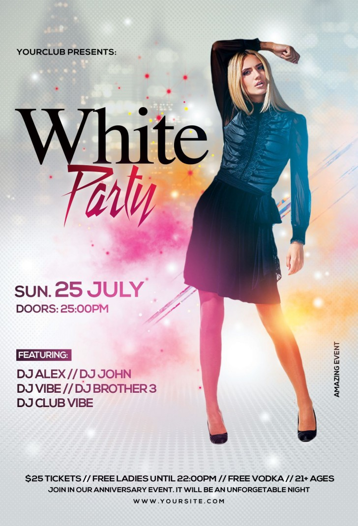 007 Wondrou Party Event Flyer Template Free Download Inspiration 728