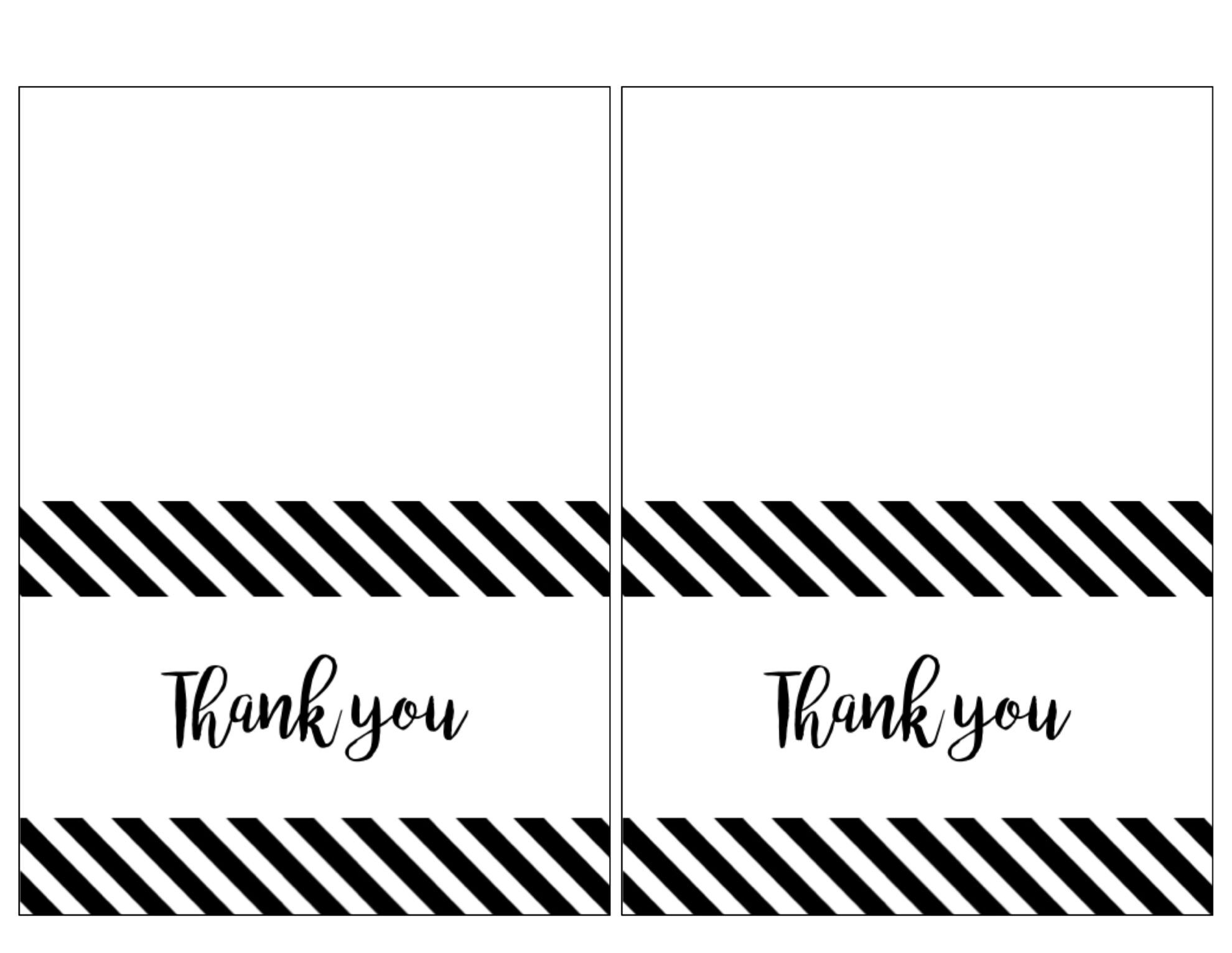 007 Wondrou Thank You Note Template Free Printable Picture Full