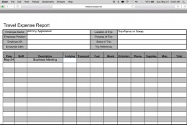 007 Wondrou Travel Expense Report Template Sample  Format Excel Free