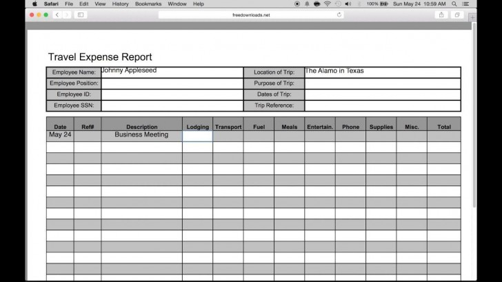 007 Wondrou Travel Expense Report Template Sample  Format Excel Free728