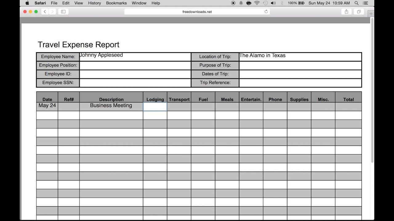 007 Wondrou Travel Expense Report Template Sample  Format Excel FreeFull