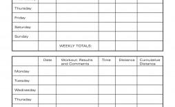 007 Wondrou Weekly Workout Schedule Template Inspiration  12 Week Plan Training Calendar