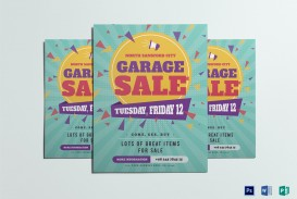 007 Wondrou Yard Sale Flyer Template Idea  Free Garage Microsoft Word