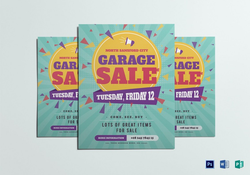 007 Wondrou Yard Sale Flyer Template Idea  Free Garage Microsoft Word868