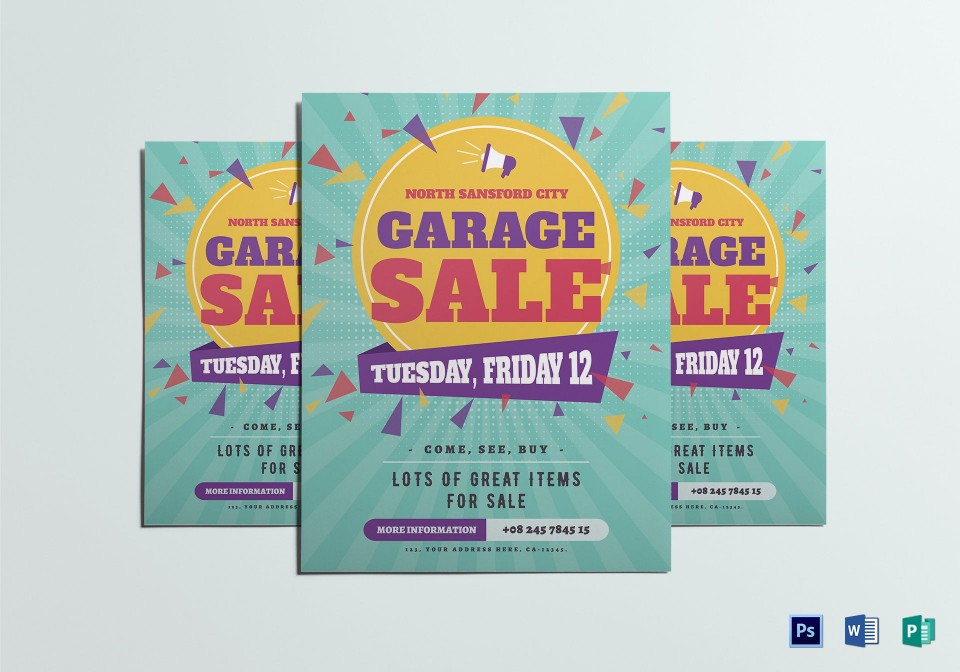 007 Wondrou Yard Sale Flyer Template Idea  Free Garage Microsoft Word960