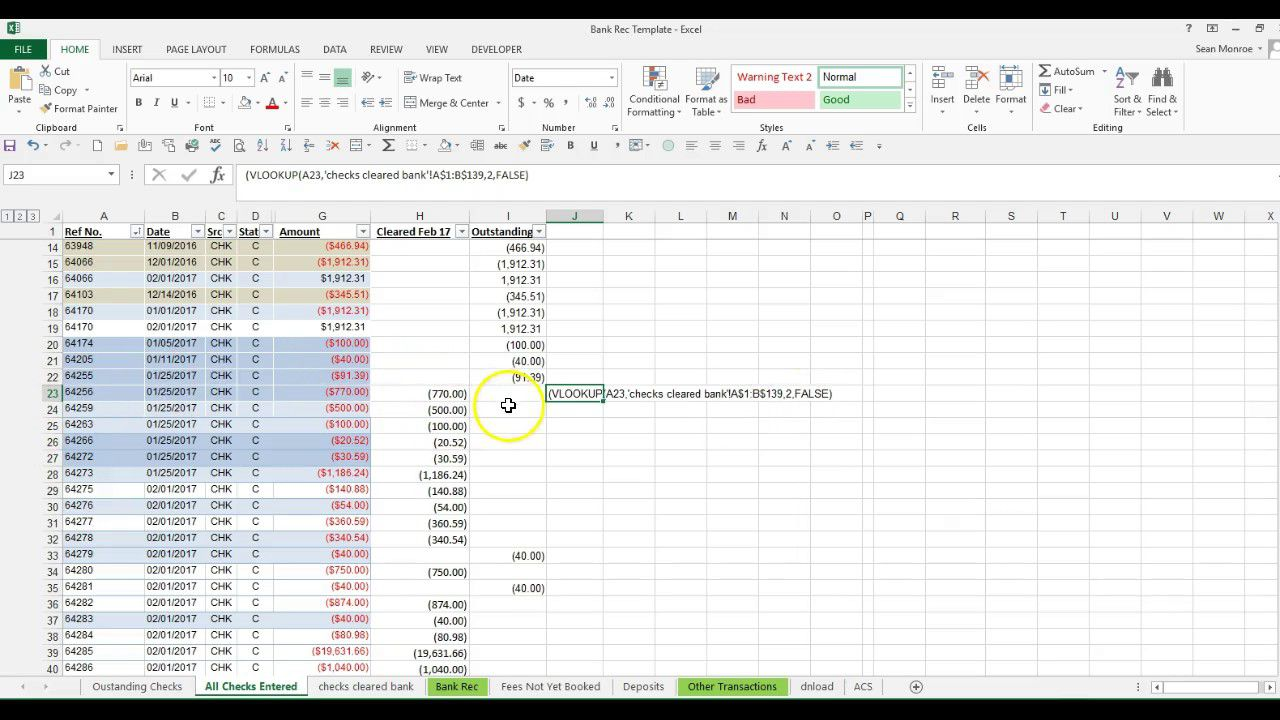 008 Amazing Bank Reconciliation Excel Template High Definition  Statement Format Free Download MonthlyFull