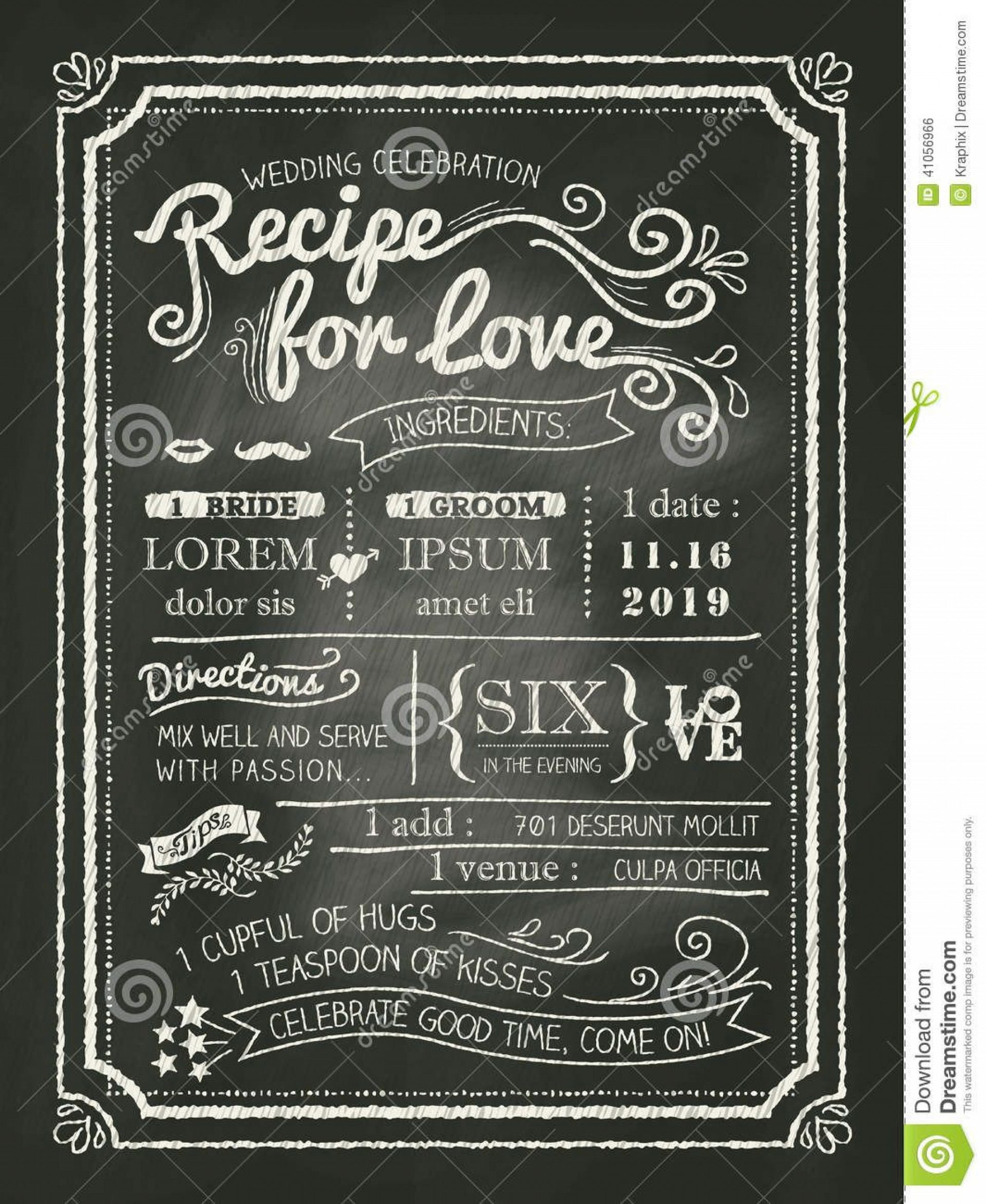 008 Amazing Chalkboard Invitation Template Free Design  Download Wedding1920