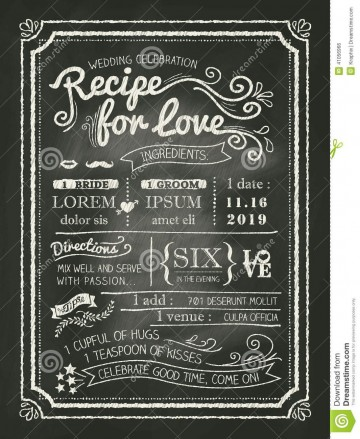 008 Amazing Chalkboard Invitation Template Free Design  Download Wedding360