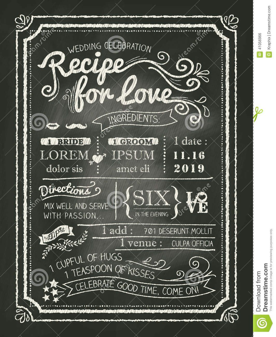 008 Amazing Chalkboard Invitation Template Free Design  Download Wedding