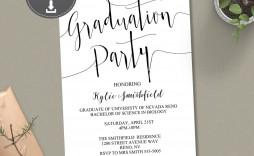 008 Amazing College Graduation Party Invitation Template Design  Templates