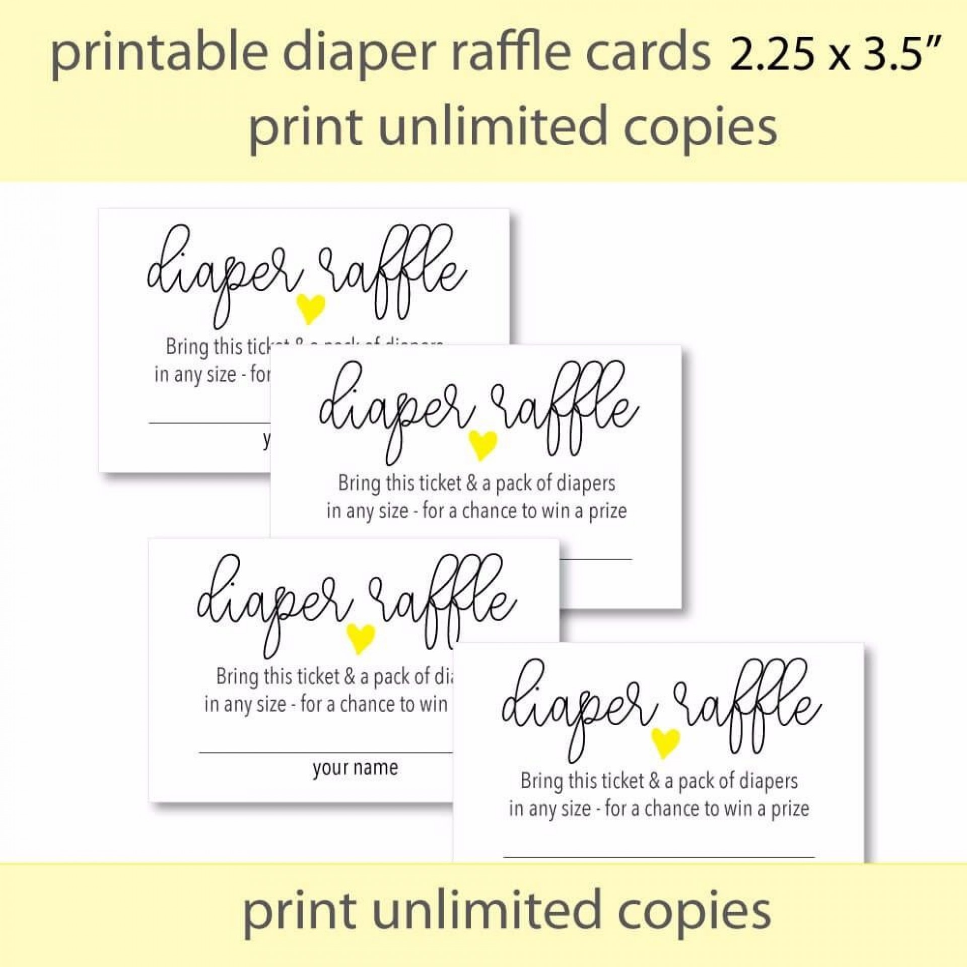 008 Amazing Diaper Raffle Ticket Template Design  Boy Free Printable Print Black And White1920