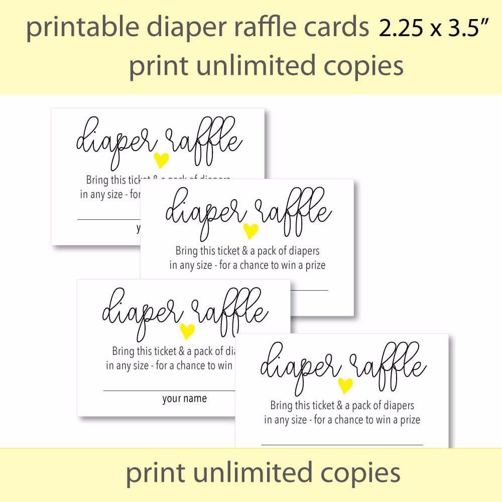 008 Amazing Diaper Raffle Ticket Template Design  Boy Free Printable Print Black And WhiteFull
