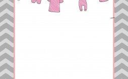 008 Amazing Free Girl Baby Shower Invitation To Print Idea  Printable Twin