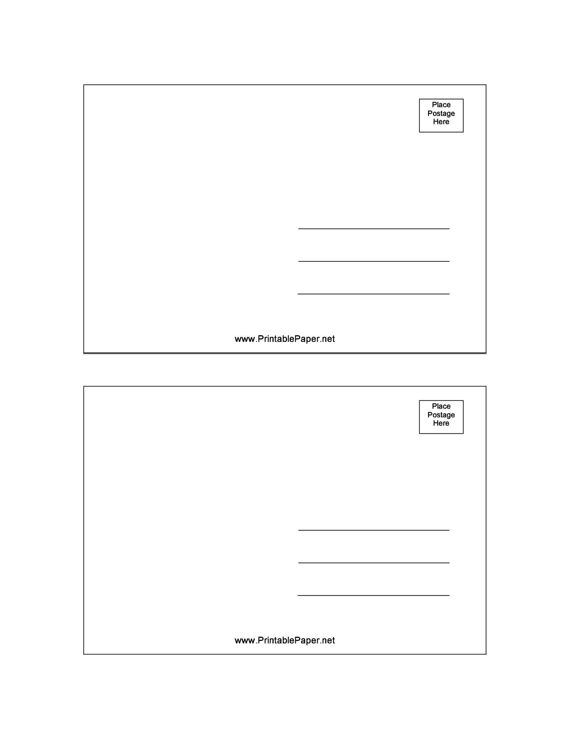 008 Amazing Free Postcard Template For Word Example  Printable Christma Place Card 4x6Full