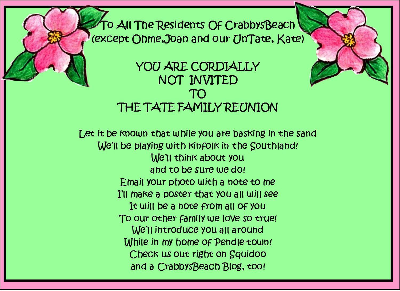 008 Amazing Free Printable Family Reunion Invitation Template Concept  Templates FlyerFull