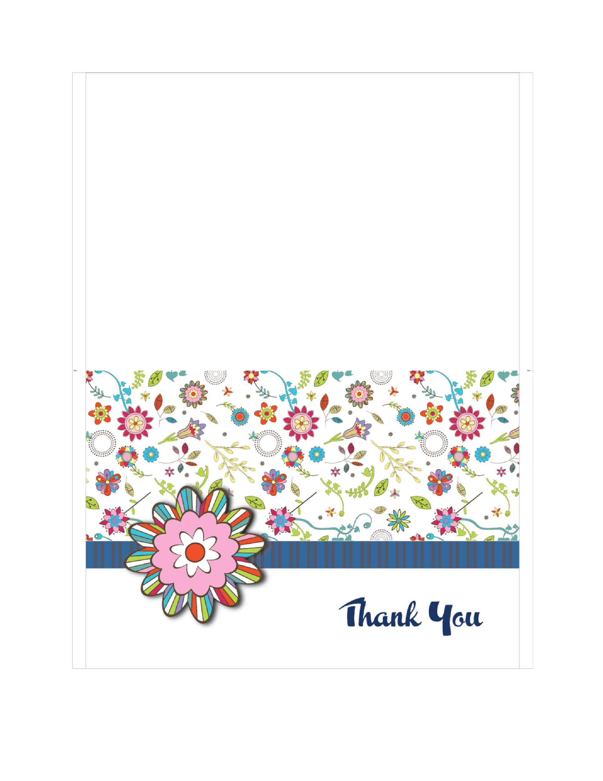 008 Amazing Free Thank You Card Template Design  Google Doc For Funeral Microsoft WordFull