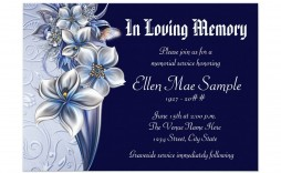 008 Amazing Funeral Invitation Template Free High Def  Memorial Service Card Reception