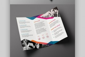 008 Amazing Indesign Trifold Brochure Template Picture  Tri Fold A4 Bi Free Download