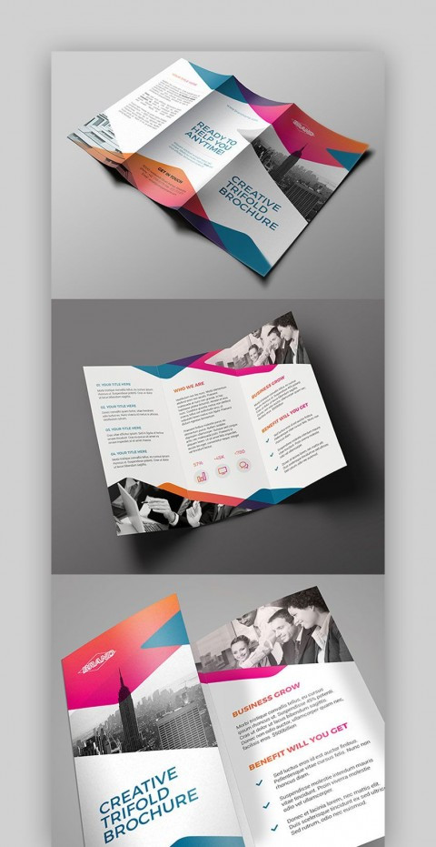 008 Amazing Indesign Trifold Brochure Template Picture  Tri Fold A4 Bi Free Download480