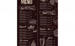 008 Amazing Menu Template Free Download For Restaurant Example  Word Psd