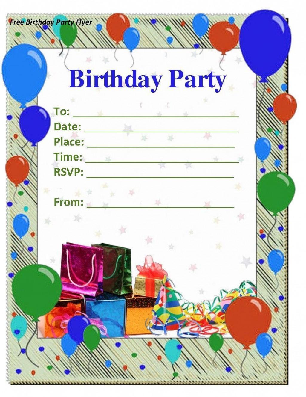 008 Amazing Microsoft Word Birthday Invitation Template Idea  Editable 50th 60thLarge