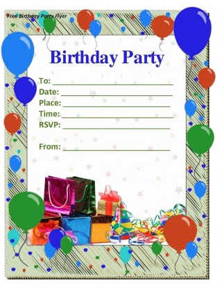 008 Amazing Microsoft Word Birthday Invitation Template Idea  Editable 50th 60th320
