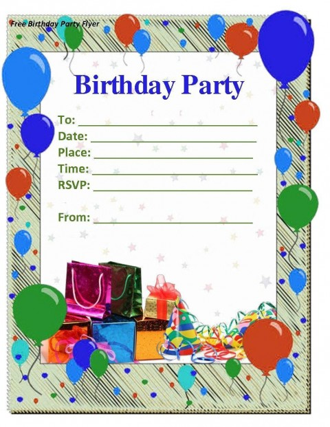 008 Amazing Microsoft Word Birthday Invitation Template Idea  Editable 50th 60th480