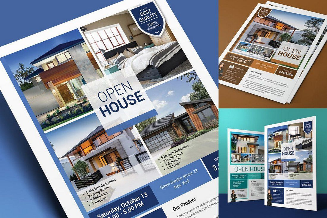 008 Amazing Open House Flyer Template Word Sample  Free MicrosoftFull