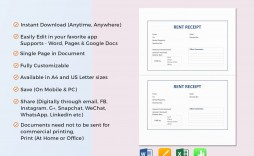 008 Amazing Rent Receipt Template Google Doc Photo  Docs Invoice Rental