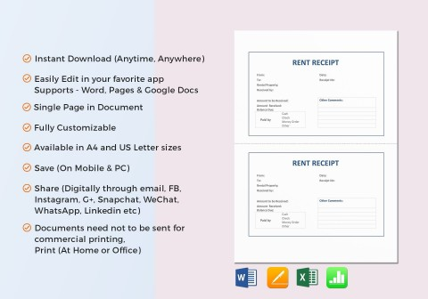 008 Amazing Rent Receipt Template Google Doc Photo  Invoice Rental480