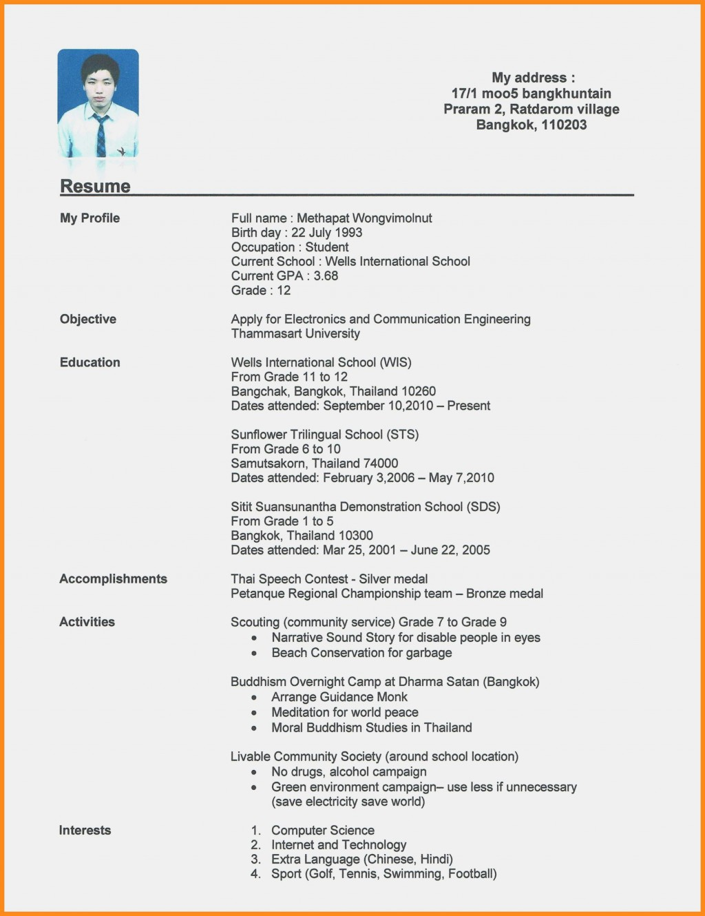 008 Amazing Resume Template For First Job Example  No Experience Student Cv Nz FormatLarge