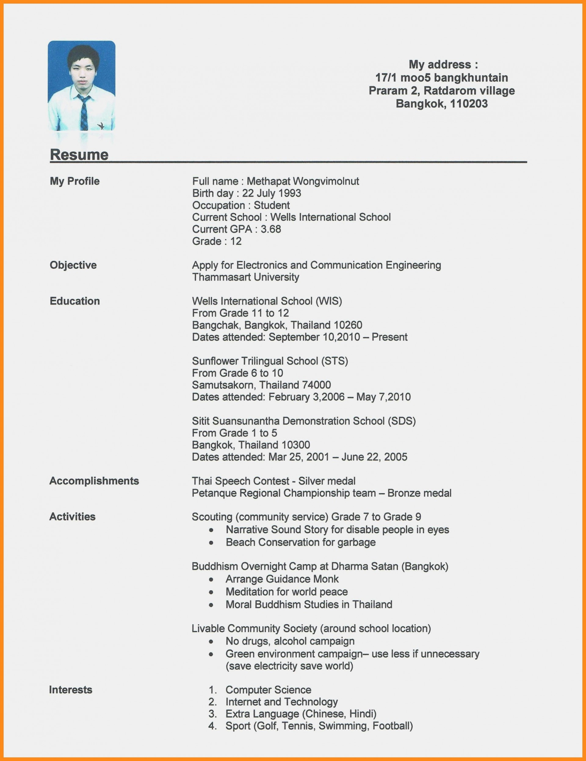008 Amazing Resume Template For First Job Example  No Experience Student Cv Nz Format1920