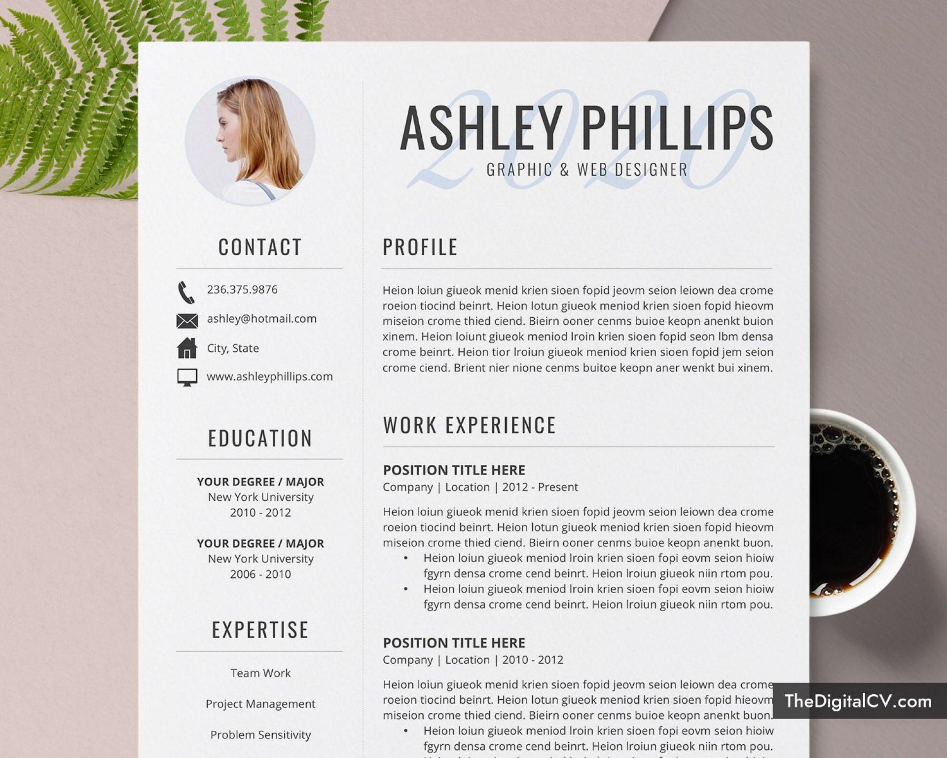 008 Amazing Resume Template M Word 2020 Highest Clarity  Free Microsoft1920