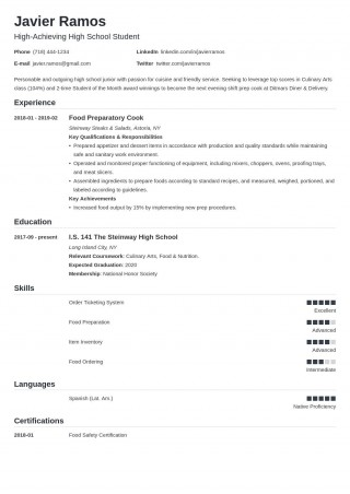 008 Amazing Resume Template High School Student Resolution  Sample First Job320