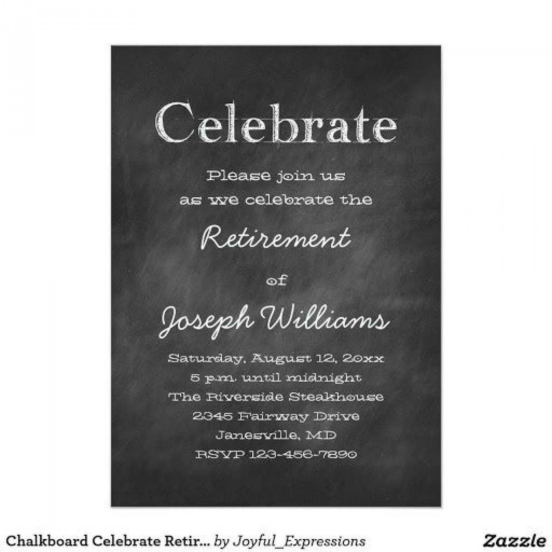 008 Amazing Retirement Invitation Template Free Concept  Party Word Download1920